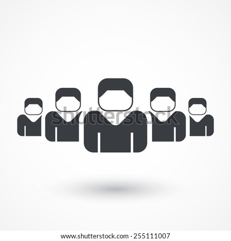 Concept of union, team, leadership, group, community - stock vector