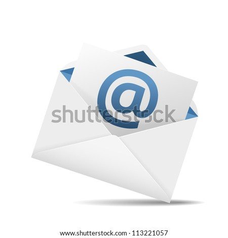 Concept representing email, envelope, vector illustration - stock vector