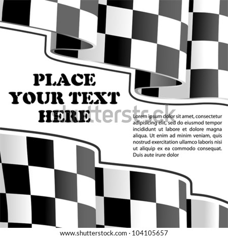 Concept - Sports Frame of the Racing Checkered Flags Finish, vector illustration - stock vector