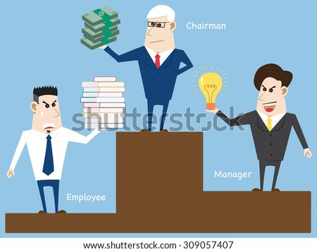 Concept with Business cartoon people, Vector Illustration EPS 10. - stock vector