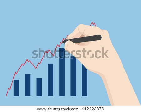 Concept with hand write Finance graph diagram, Vector Illustration EPS 10. - stock vector