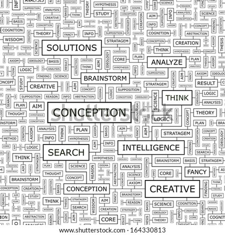CONCEPTION. Seamless pattern. Word cloud illustration. Vector illustration. - stock vector