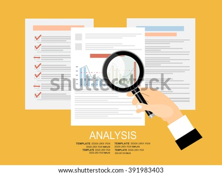 Concepts for business planning and accounting, analysis, audit, project management, marketing, research in flat design style. - stock vector