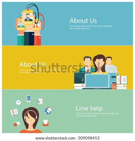 Concepts for web banners and promotions. Flat design business concepts - stock vector