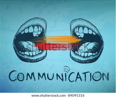 Conceptual abstract background. Communication - stock vector