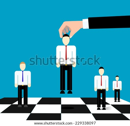 Conceptual image of business relationships as a game of chess - stock vector