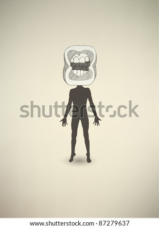 Conceptual poster. The mental state of human - stock vector