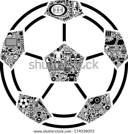 Conceptual Soccer Ball - stock vector