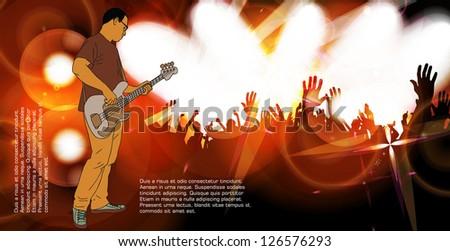 Concert background. Vector - stock vector