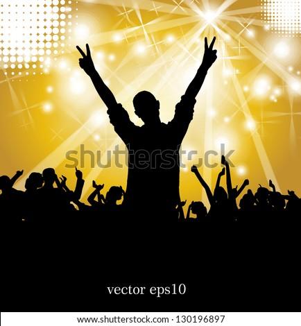 Concert illustration. Vector illustration - stock vector