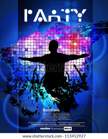Concert poster. Music illustration - stock vector