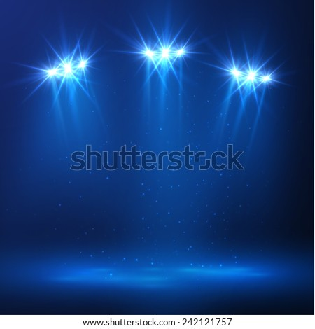 Concert stage spotlight vector bakcground. Eps10 - stock vector