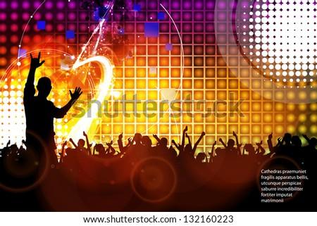 Concert. Vector - stock vector