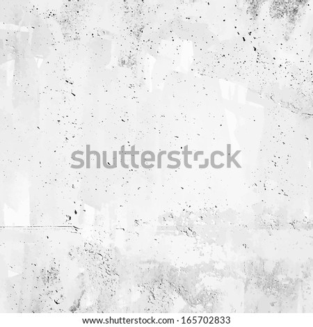 concrete grunge background. Vector wall. - stock vector