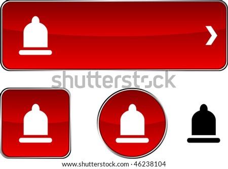 Condom  web buttons. Vector illustration. - stock vector