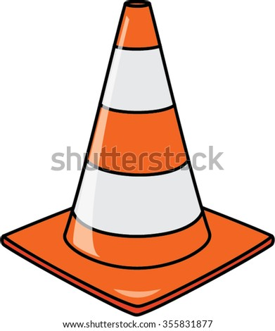 cone isolated illustration - stock vector
