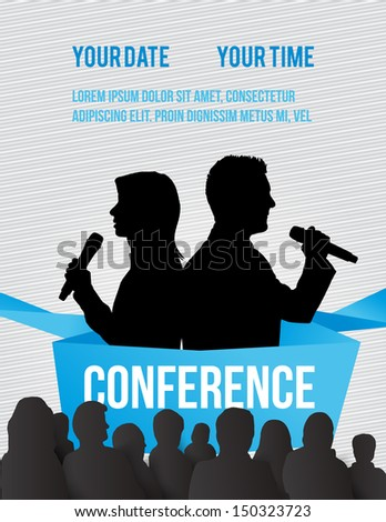 Conference template illustration with space for your texts - stock vector