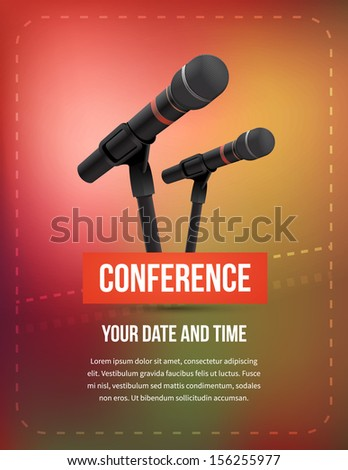 Conference vector illustration - stock vector