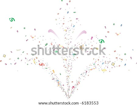 Confetti Fountain - stock vector