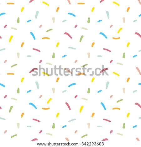 Confetti seamless pattern. Repeating pastel confetti background - stock vector