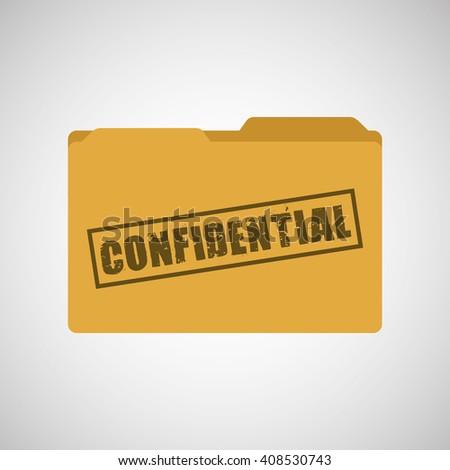 confidential folder design  - stock vector