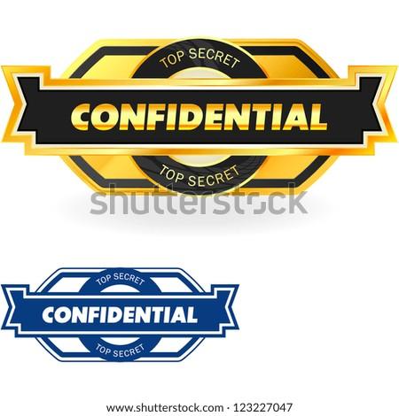 Confidential. Vector illustration - stock vector