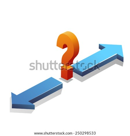 Confusion / Decision making / Question mark - stock vector