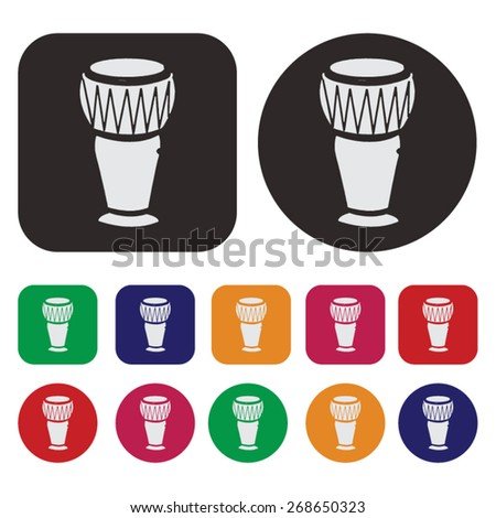 conga drums icon / music icon - stock vector