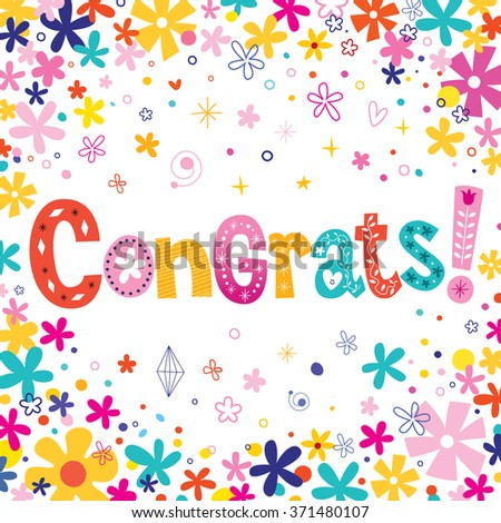 Congrats greeting card - stock vector