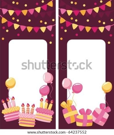 Congratulation card Birthday - stock vector