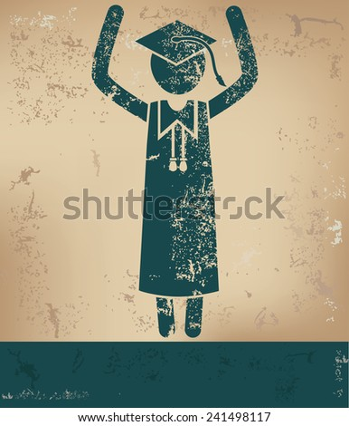 Congratulation concept,human resource design on old background,grunge vector - stock vector