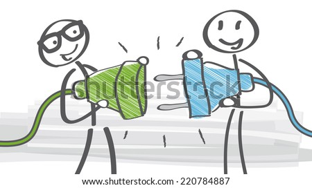 connect - how to Find the Perfect Business Partner - stock vector