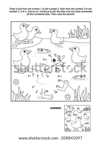 Connect the dots picture puzzle and coloring page with for Decorative pond fish crossword