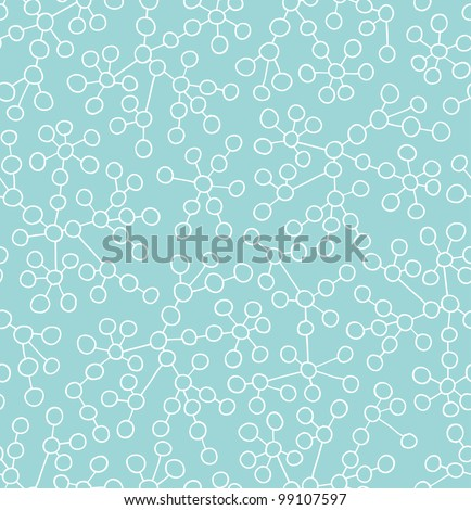 Connected circles. Vector seamless pattern. Abstract background - stock vector