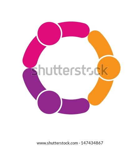 connecting people - stock vector