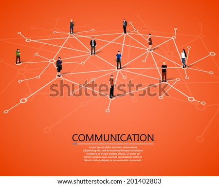 Connecting people. Social network concept. Vector - stock vector