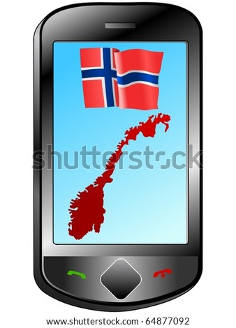 Connection with Norway - stock vector