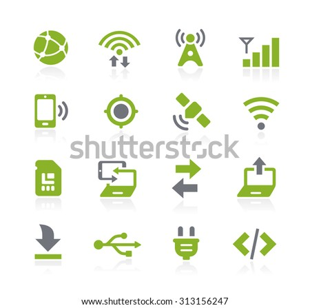 Connectivity Icons // Natura Series - stock vector