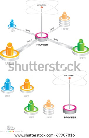 connectivity to the Internet - stock vector