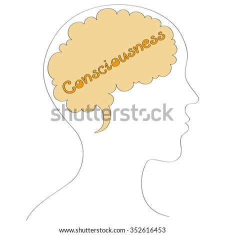 Consciousness vector background  - stock vector