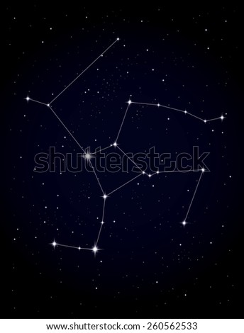 Constellation Hercules - stock vector