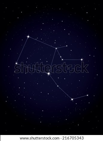 Constellation Pegasus - stock vector