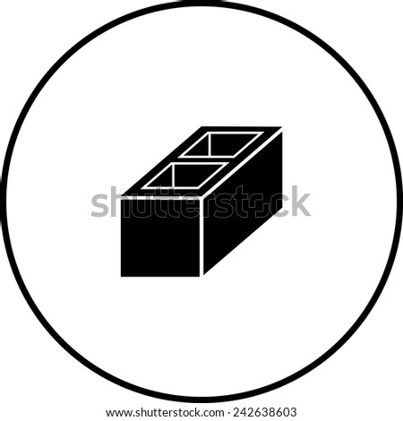 construction block symbol - stock vector
