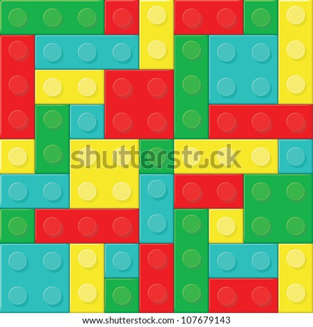 Construction blocks (removable pieces). Vector illustration - stock vector
