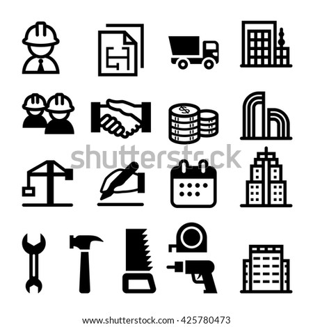Construction business icon - stock vector
