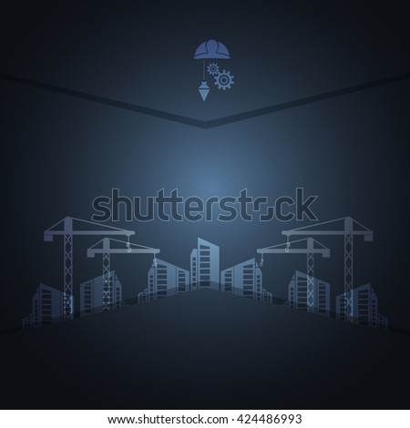 construction concept background vector illustration - stock vector
