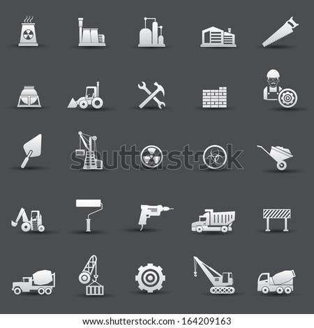 Construction icons,vector - stock vector