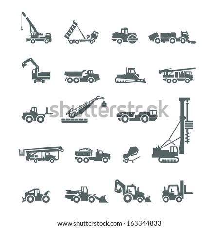 Construction machinery. Vector format - stock vector