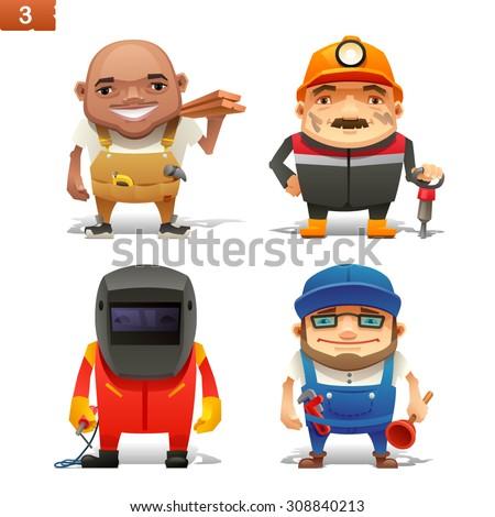Construction professions set-1 - stock vector