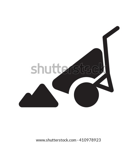 construction sign flat icon - EPS 10 Vector icon - stock vector